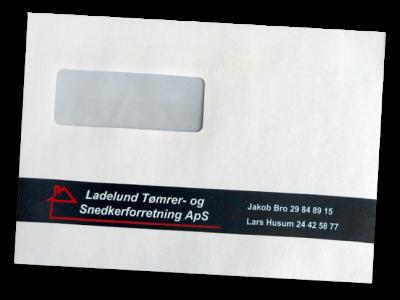 Kuvert C5 Ladelund Tømrer & Snedkerforretning