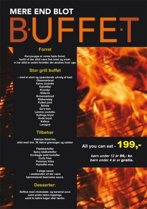 Plakat for Restaurant Buffet i Jomfru Ane Gade