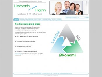 Webdesign for Lisbeth Horn
