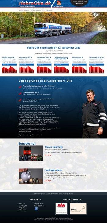 Webdesign for Hobro Olie